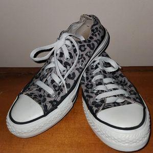 Grey leopard CONVERSE shoes